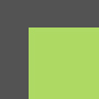 dim grey/apple green