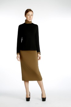 W Long Pencil Skirt